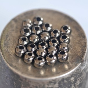 Бусины металлические, черный, 3.2 мм...
