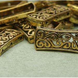Коннектор 3-3 отв, античное золото, 27х12х4 мм...