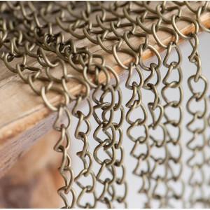 Цепочка для бижутерии, античная бронза, размер звена 6х...