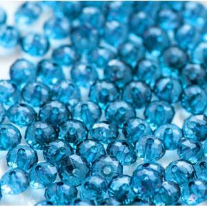 Бусина акриловая абакус граненый, цвет темно-голубой, 8...
