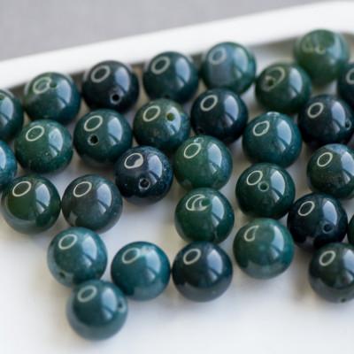 Граненые бусины агата, цвет приглушенно-зеленый, окрашен., 12 мм