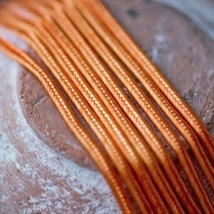 Сутаж, бледный оранжевый, 3х1 мм (уп 5 м)...