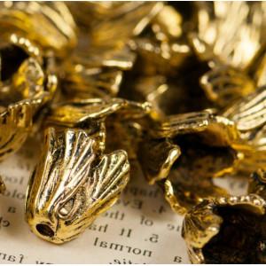 Чашечка (шапочка) для бусин, античное золото,  16x18x18...