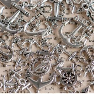 Подвески из металла в морской теме, разных размеров., а...