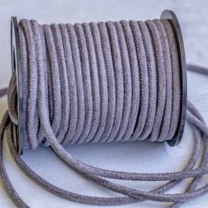Шнур из искусственной замши, серый, 3 мм...