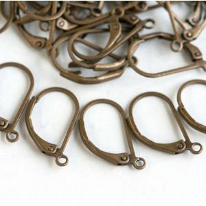 Швензы (основы для сережек), античная бронза, 17.5х10х2...