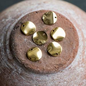 Подвеска металлическая, нерж. сталь, цв. золото, 10x0,3...