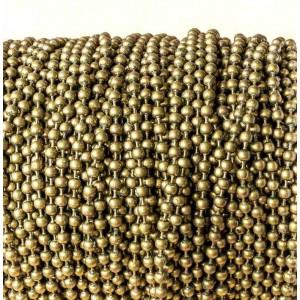 Цепочка для бижутерии, античная бронза, шарик 3,2 мм...