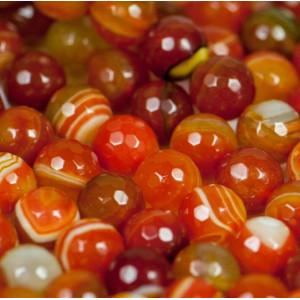 Граненые бусины агата, цвет оранжевый, окрашен. 10 мм...