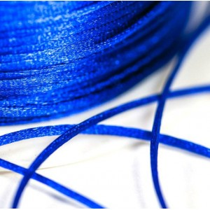 Атласный шнур для кумихимо, синий электрик, 1 мм (4 м)...