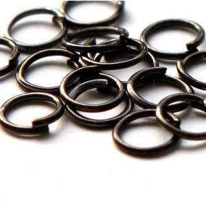 Колечко соединительное 6мм, цвет черный, 6х1 мм...