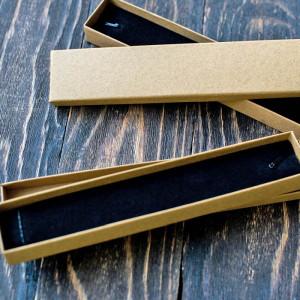Коробка, картон и ткань, 210х40х20 мм...