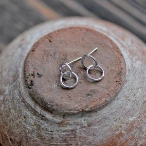 Пуссеты-гвоздики, покрытие платина, 14x8x1 мм...