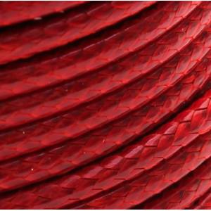 Шнур вощеный синт., красный, 3 мм...