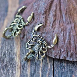 Подвеска металлическая в виде скорпиона, цвет античная ...