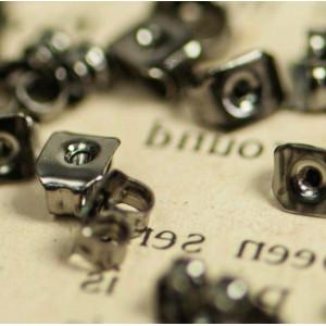 Фиксаторы (застежки) для сережек, черный, 6.5х4.5х3 мм...
