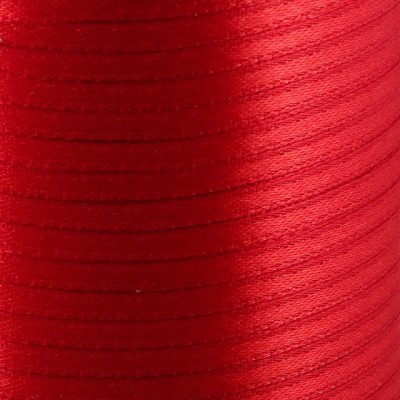 Атласная лента, красный, ширина 3 мм