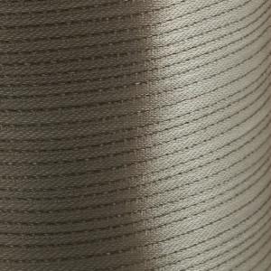 Атласная лента, бежево-серебристый, ширина 3 мм...