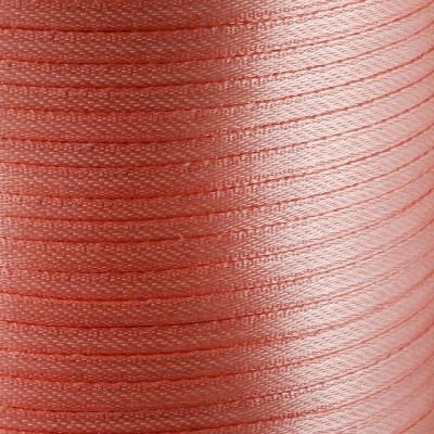 Атласная лента, оранжево-розовый, ширина 3 мм