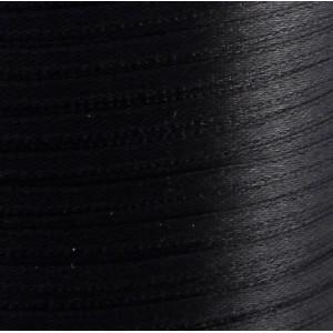 Атласная лента, черный, ширина 3 мм...
