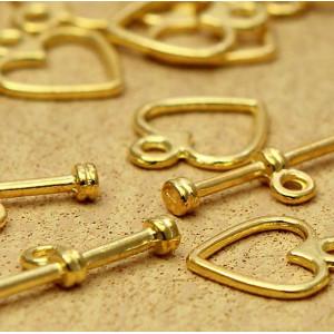 Застежка - тоггл, золото, 12х14х19 мм...
