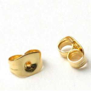 Фиксаторы (застежки) для сережек, золотой, 5.5х4х3 мм...