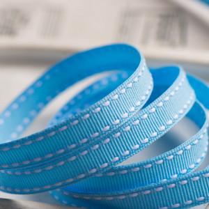 Лента из репса, голубой, ширина 9 мм...