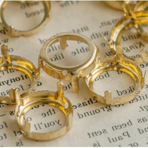 Цапы круглой формы, открытые, цвет золото, 16 мм...