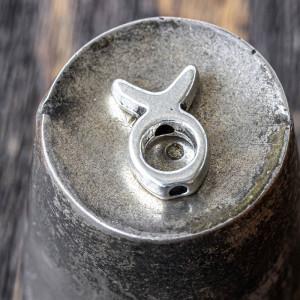 Рамочка для бусин, античное серебро, 13,5x9x3 мм...