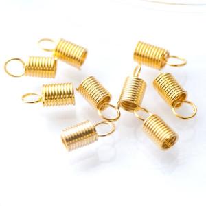 Концевик-зажим пружинный, золото, 10х4.5х3.5 мм...