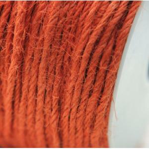 Конопляный шнур, оранжево-красный, 2 мм (5 м)...