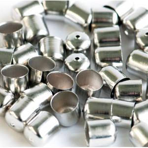 Концевик для бисерного жгута, платина,10.5x10 мм...