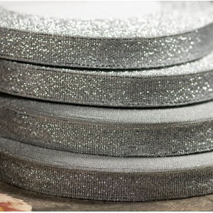 Парчовая лента, серебрянный люрекс, ширина 9 мм...