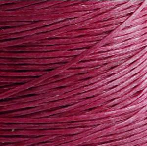 Плоский вощеный шнур синт., цвет малиновый, 1х0,4 мм...