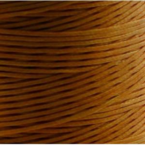 Плоский вощеный шнур синт., цвет рыже-оранжевый, 1х0,4 ...
