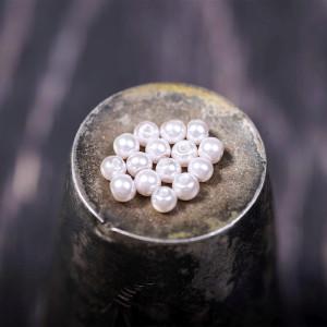 Бусина стеклянный жемчуг, нежный розовый, 3 мм (уп 100ш...