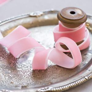 Бархатная лента, бледный розовый, ширина 19  мм...