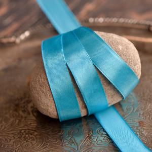 Лента атласная, бирюзово-голубой, 15 мм...