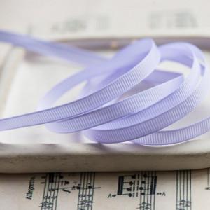 Репсовая лента, белый с голубым, ширина 6 мм...