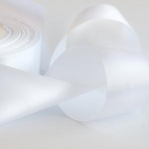Атласная лента, белый, ширина 50 мм...