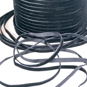 Бархатная лента, черный, ширина 6,5 мм...
