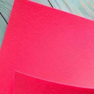 Корейский жесткий фетр цв.914, розовый яркий, толщина 1,2 мм, лист 33х110 см