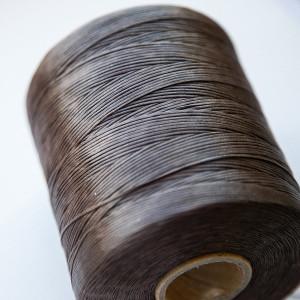 Плоский вощеный шнур синт., цвет темно-коричневый, 1х0,...