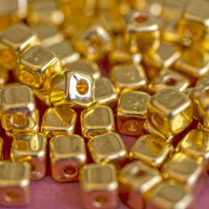 Разделитель для бусин, цв. золото, 4х4х4 мм (20 шт)...