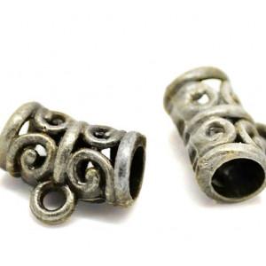 Бейл, античное серебро, 10х12х6 мм...