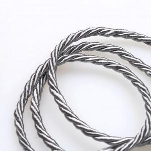 Витой полиэстеровый шнур, серебристо-серый, 3,5 мм...