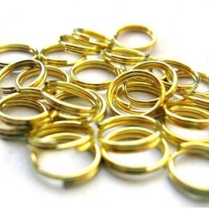 Колечко двойной крутки 6мм, цвет золото (50 шт)...