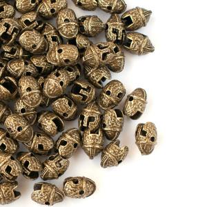 Бусина-колпачок металлическая, античная бронза, 14x9.5x...