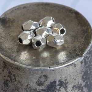 Разделитель для бусин, античное серебро, 4х3.5 мм (50 ш...