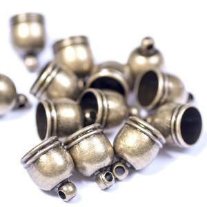 Концевик для шнура, ант. бронза, 10х8 мм...
